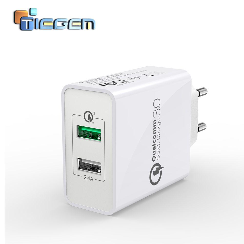 TIEGEM 30 w Charge Rapide 3.0 USB Mur Chargeur Adaptateur UE US Universal Plug Voyage Chargeur Mobile Téléphone Chargeur pour samsung iphone