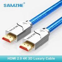 SAMZHE 4 K HDMI cable cabo hdmi a hdmi 2,0, 2160 P 3D 1 M 1,5 m 2 m 3 M 5 M 8 m 10 m 12 m 15 M para PS4 xbox proyector HD TV caja portátil