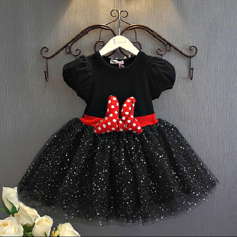 2018 été bébé filles robe Minnie souris robes pour filles princesse Minnie robe fête d'anniversaire enfants vêtements enfants Costume