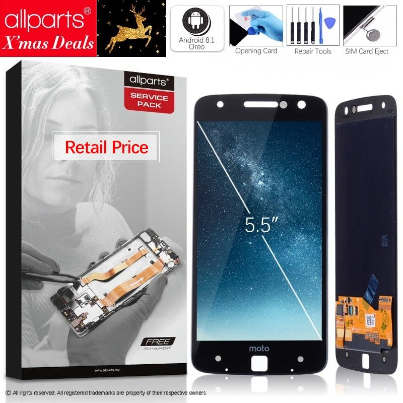 AMOLED Original LCD For Motorola Moto Z Display Touch Screen Digitizer Replacement for Moto Z Display XT1650 XT1650-03 LCD