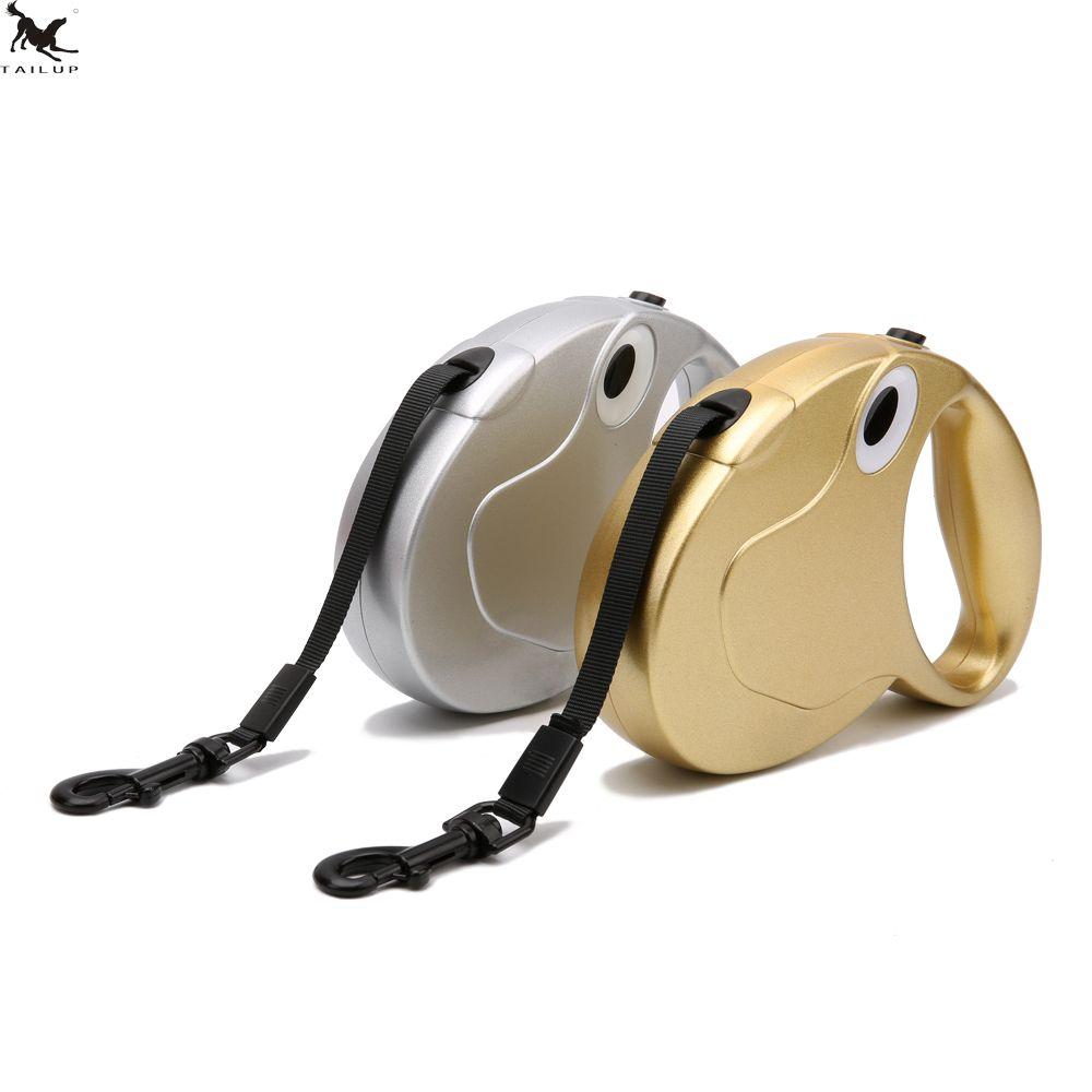TAILUP laisse pour chien laisse rétractable pour chien de compagnie or argent collier harnais vêtements rétractable laisse pour chiens CL113