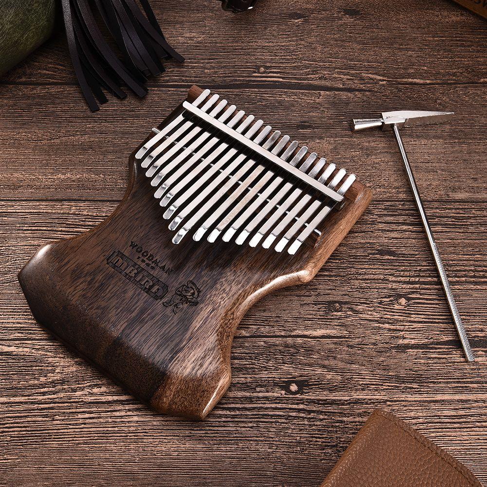 17 Keys Tone Sandalwood Kalimba African Mbira Thumb Piano Finger Percussion Keyboard Musical Instruments