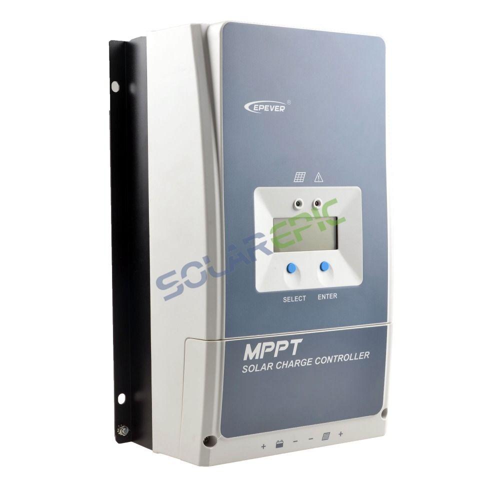 50A Epever MPPT Solar Charge Controller 50A 12V/24V/36V/48VDC Auto Tracer AN Battery Regulator Max PV Input Voltage 150V or 200V