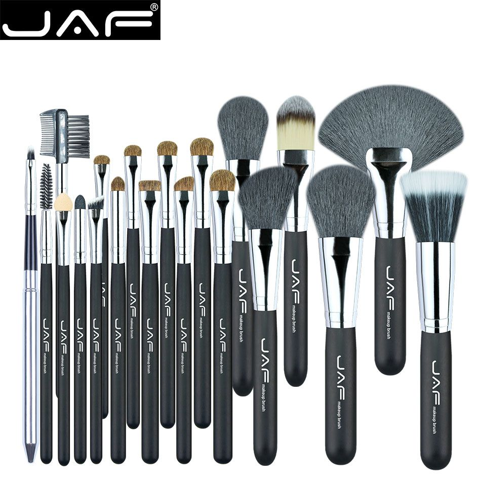 JAF 20 Pcs/Set Brushes for Makeup Natural Hair Makeup Brush Set professional Cosmetic Make Up Brush Tools Kits J2001PY-B