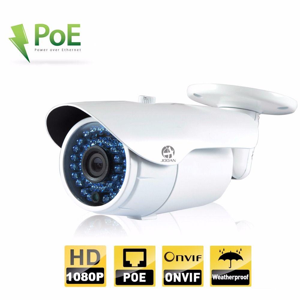 JOOAN 2MP ONVIF Caméra IP Extérieure 1080 p Balle POE Caméra De Sécurité de Vision Nocturne Étanche 36 Led IR Blanc réseau de télévision en CIRCUIT FERMÉ