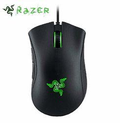 Razer DeathAdder Chroma Gaming Mouse 10000 DPI 16.8 M Warna RGB LED USB PC Gamer Kabel Synapse Diakui untuk CSGO, overwatch