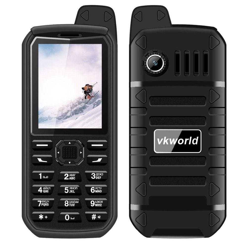 VKWorld Stone V3 Plus 3000mAh Long Standby Cellphone MTK6261 RAM 32MB ROM 32MB 2.4 inch Dual SIM Bluetooth with FM Radio,Torch