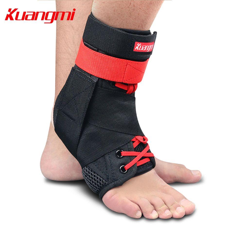 Kuangmi 1 PC cheville livraison directe du fournisseur sport cheville orthèse entorse garde protecteur pied stabilisateur réglable Bandage basket-ball