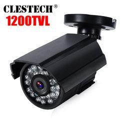 Высокое качество 1200TVL HD Mini Cctv Камера открытый Водонепроницаемый IP66 ИК Ночное видение цвет аналогового мониторинга безопасности кронштейн