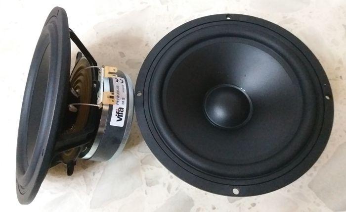 2PCS Original Vifa P17WJ-00-08 6.5'' Hifi Midwoofer Speaker Driver Unit Casting Aluminum Frame PP Cone 4/8ohm 80W D170mm Round