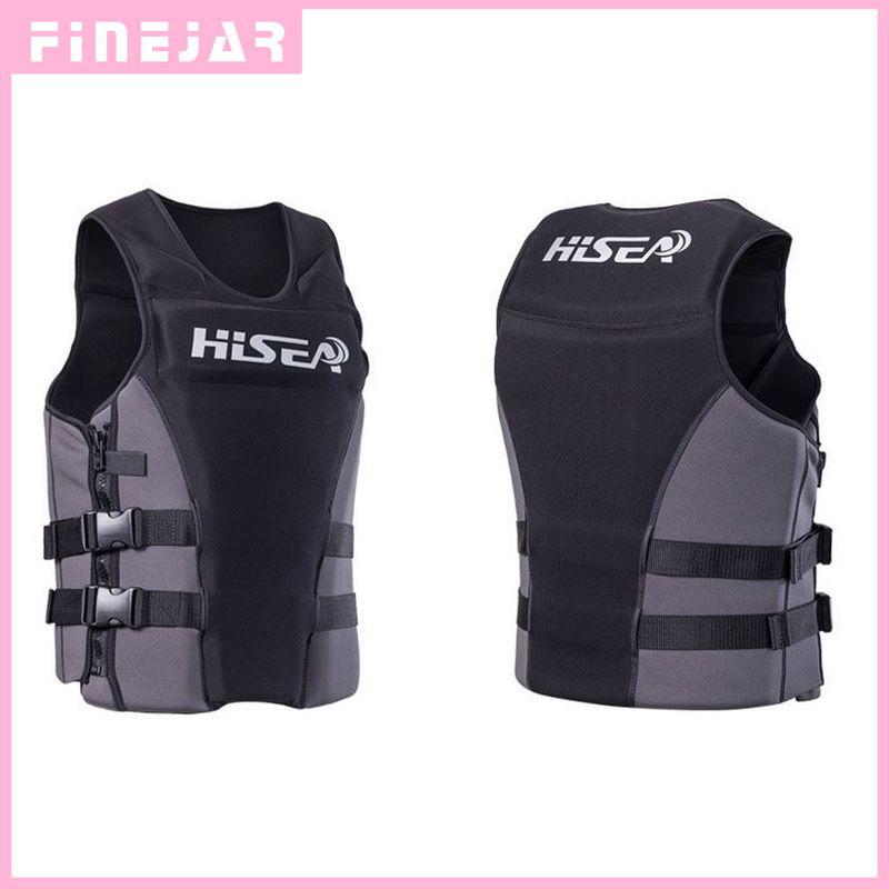 Hisea Professionl Buoyancy Life Jacket Vest With Material Neoprene for Men Women Surfing Motorboat Fishing h2