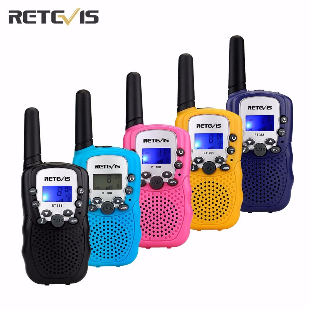 1 pc 5 Couleurs Mini Talkie Walkie 0.5 w UHF Europe Fréquence 8CH 446 mhz LCD Affichage Portable Radio Retevis RT388 Jouet Radio J7027