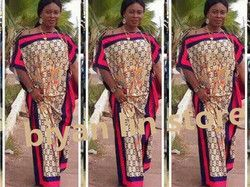 (6 colores) 2017 Nuevo africano 100% algodón impresión elástico murciélagos manga suelta estilo dashiki largo vestidos