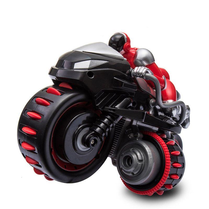 Neue 2,4g RC Motorrad Hohe Geschwindigkeit Drift Rolle Stunt RC Motorrad Modell Spielzeug Fernbedienung Motor mit Licht Spielzeug für Kinder Geschenk