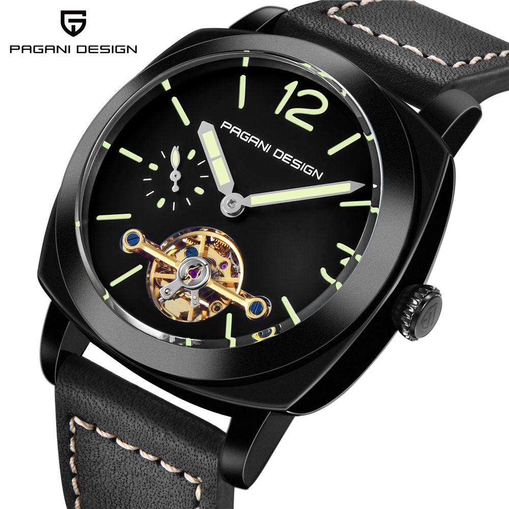 PAGANI DESIGN Top Marke männer Automatische Mechanische Uhren Leucht Leder Mode Casual Wasserdichte Uhr relogio dropshipping
