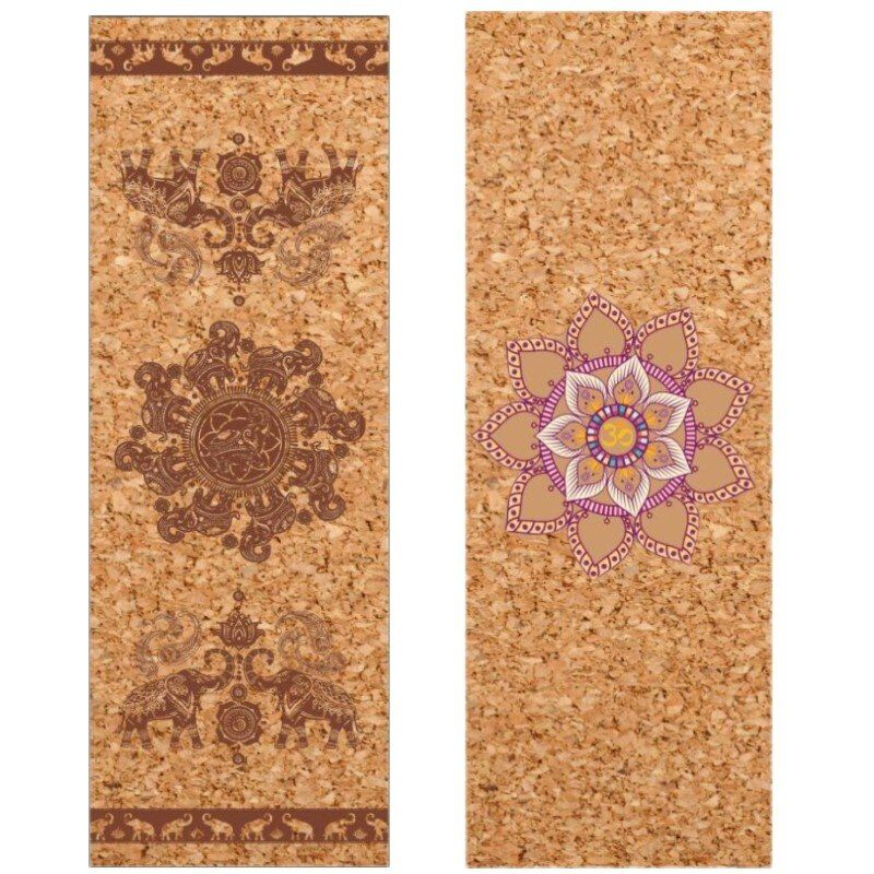 4mm Cork Natural Rubber Yoga Mat Eco-Friendly Non Slip 183cm*68 Cm Pilates Mat Yoga Gym Fitness Exercise Mats Mat Customizable