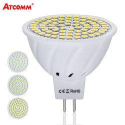 MR16 LED Diode Lampe 12 V 4 W 6 W 8 W Ampoule LED Mr16 Ampoule 110 V 220 V 36 54 72 Led SMD 2835 Puce Haute Lumen Pas de Scintillement