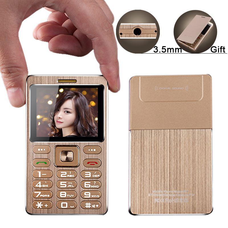 A10 mini metal card phone anti lost free camera MP3 3.0 bluetooth BT dial 3.5mm jack remote camera M5 C6 AIEK student phone P273
