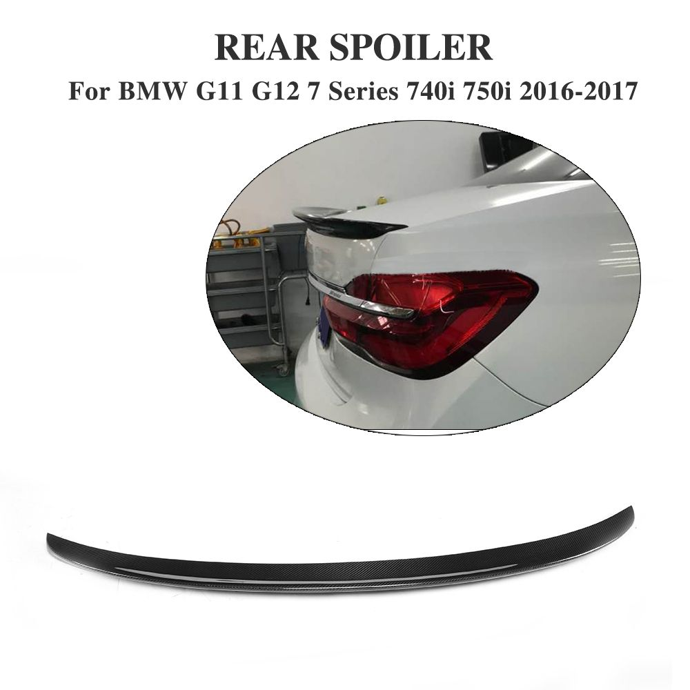 Carbon Fiber Rear Boot Duck Spoiler for BMW 7 Series G11 G12 740i 750i 2016-2017 A Style