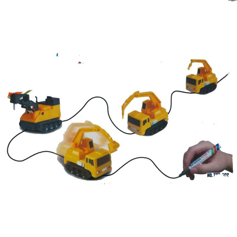 Индуктивный автомобиль diecast АВТОМОБИЛЯ Волшебное перо игрушка автоцистерны экскаватор construt следовать любой линии вы рисуете игрушки для д...