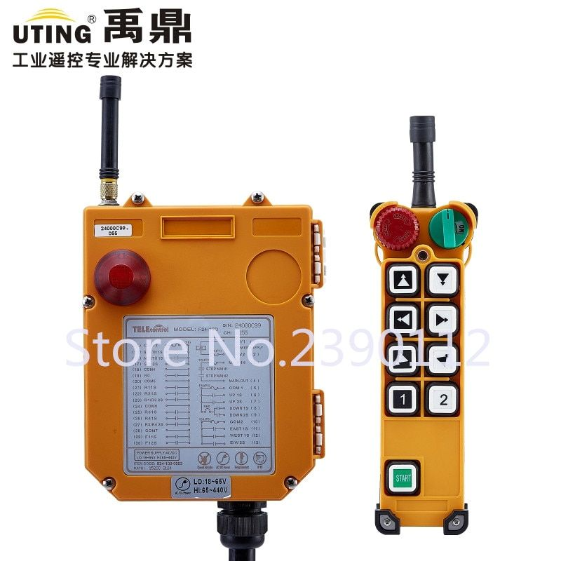industrial wireless redio remote control F24-8D for hoist crane