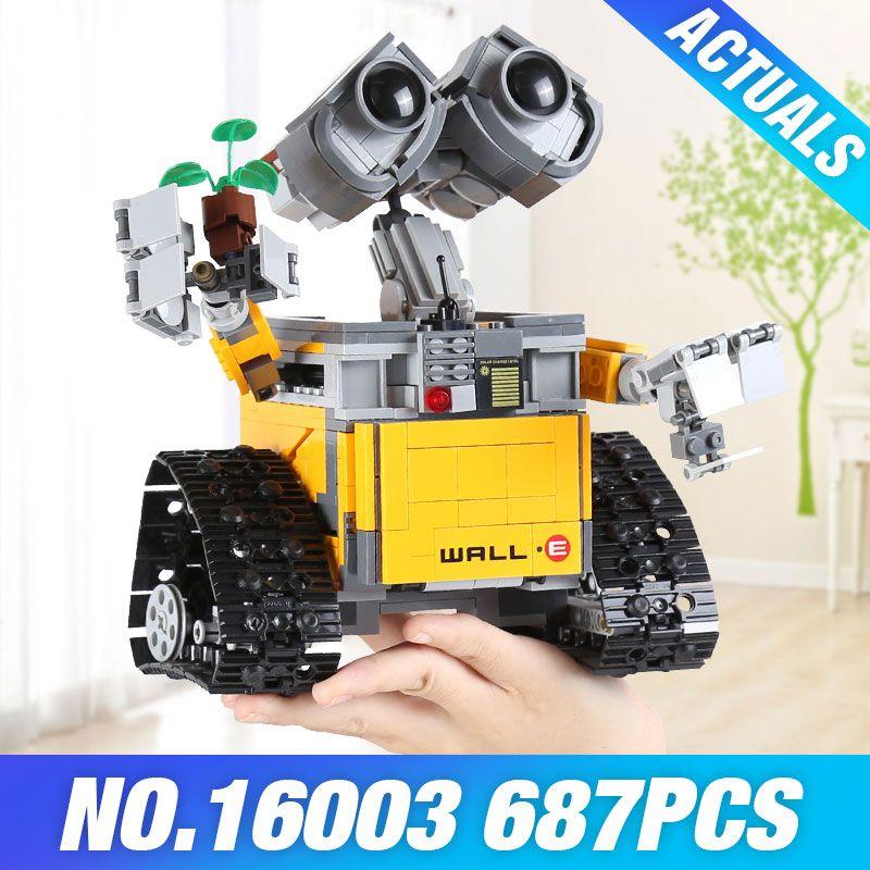 Lepin 16003 Idea Robot WALL E 21303 Building Kits Bricks Blocks Bringuedos 06052 The Fire Robot 70615 Child Gifts 03073 DIY Toys