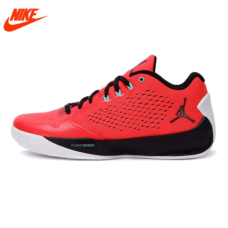 Original New Arrival Authentic NIKE Breathable Summer Men's Basketball Shoes Sneakers Red White shoes men jordan
