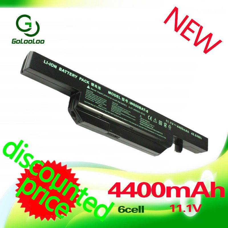 11.1V 4400mAh laptop battery for Clevo W650BAT-6 K590C-I3 K610C-I5 G150SG G150S K650D K750D G150TC G150MG K4 K5 P4-I54572d1