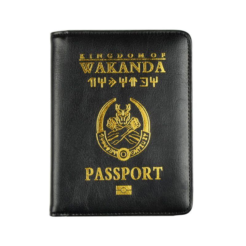 HEQUN Brand Wakanda Forever Cover Passport Women Cute Soft Pu Leather Passport Holder Wallet Pink Travel Bank Cards Tickets Case