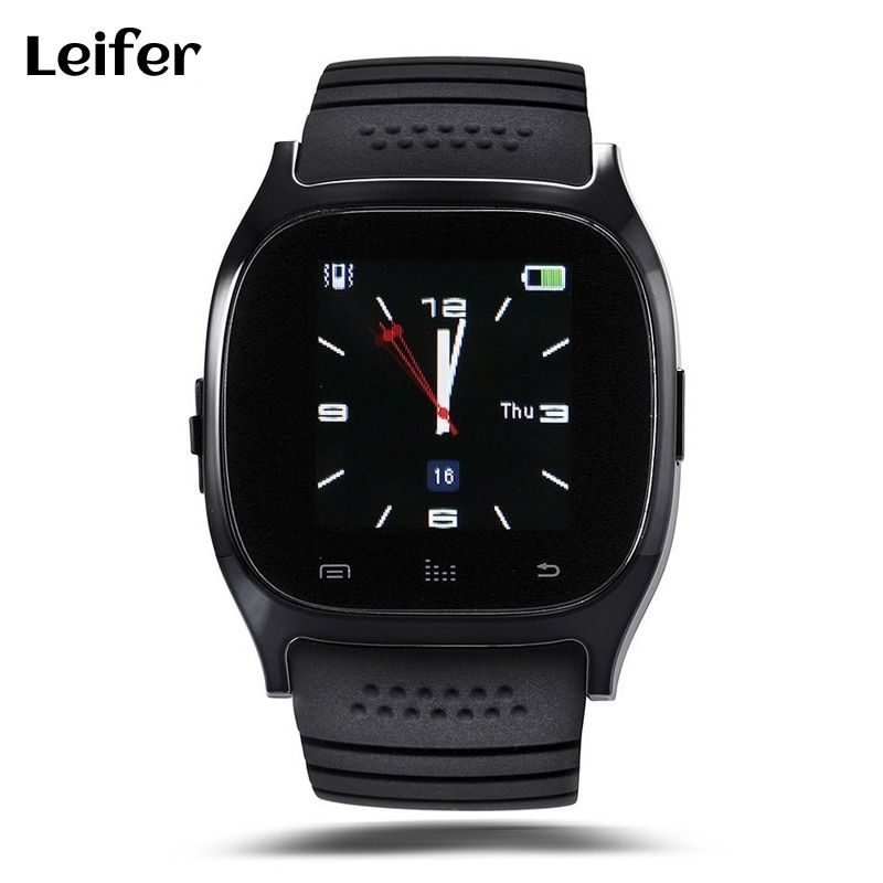 Smart uhr M26 Bluetooth smartwatch tragbare geräte für iPhone IOS Android Windows Phone Sport Smartfone whatch
