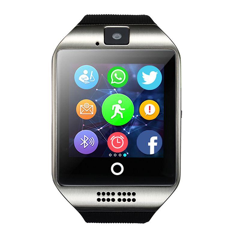 Kostenloser Versand Smart Watch Q18 MP3 Musik-player Mit Touchscreen Passometer Kamera TF Karte Bluetooth Smartwatch Für Android IOS