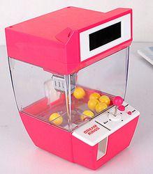 Penangkap Jam Alarm Listrik Mesin Penjual Otomatis Permen Boneka Lucu Permainan Mesin Candy Grabber Machine Mesin Permen untuk Anak