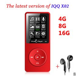 Hot IQQ X02 MP3 Music player  16GB time 80 Hours lossless MP3 player mp-3 hifi Player reproductor mp3 16gb walkman  hifi speaker