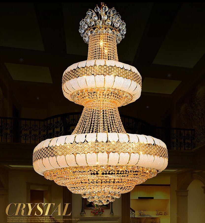 LED Modern chandelier luxury K9 Gold crystal chandelier lighting Upscale Royal Lustre large crystal chandeliers