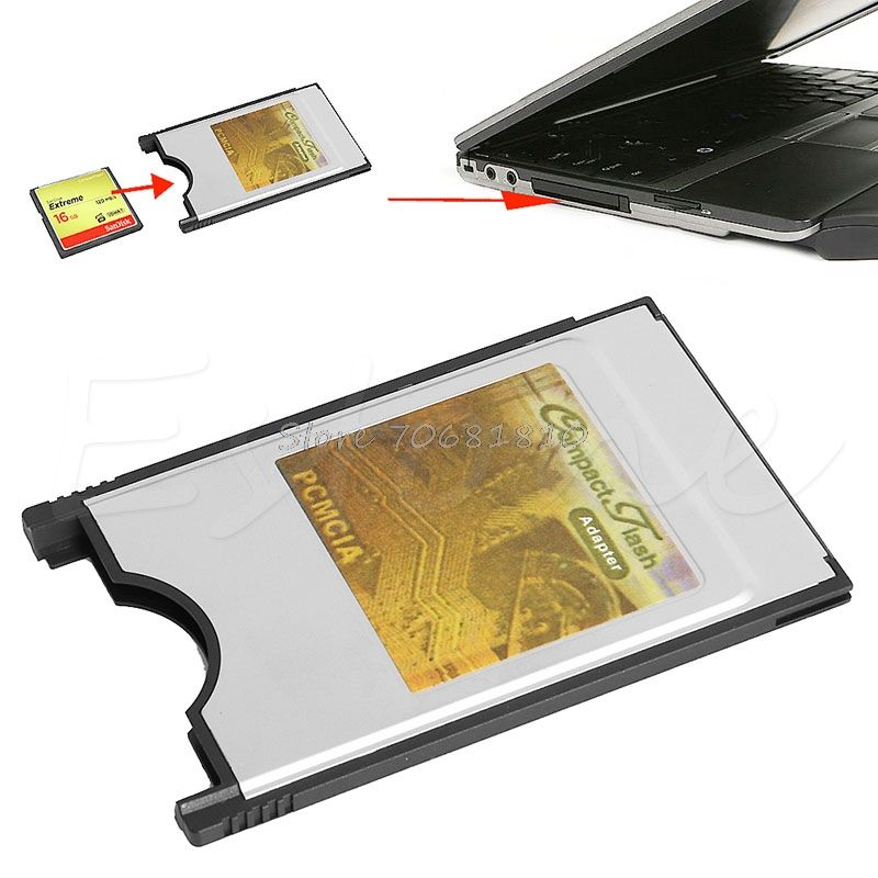 Compact Flash CF to PC Card PCMCIA Adapter Cards Reader for Laptop Notebook Z17 Drop ship