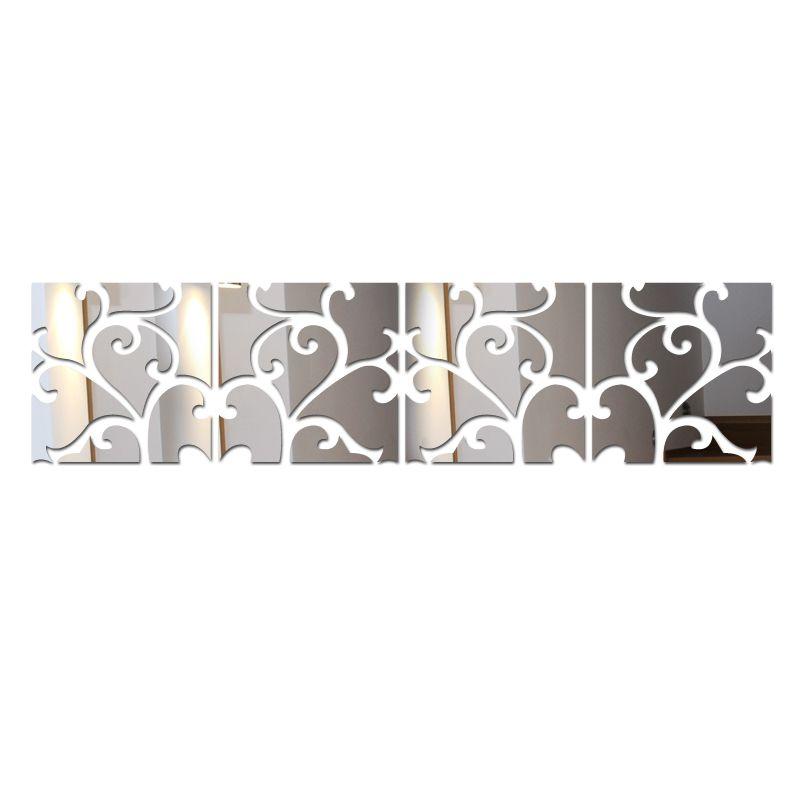 2019 nouveaux autocollants muraux bricolage décor à la maison Europe acrylique miroir autocollant Adesivo De Parede Vinilos Paredes motif papillon cheval