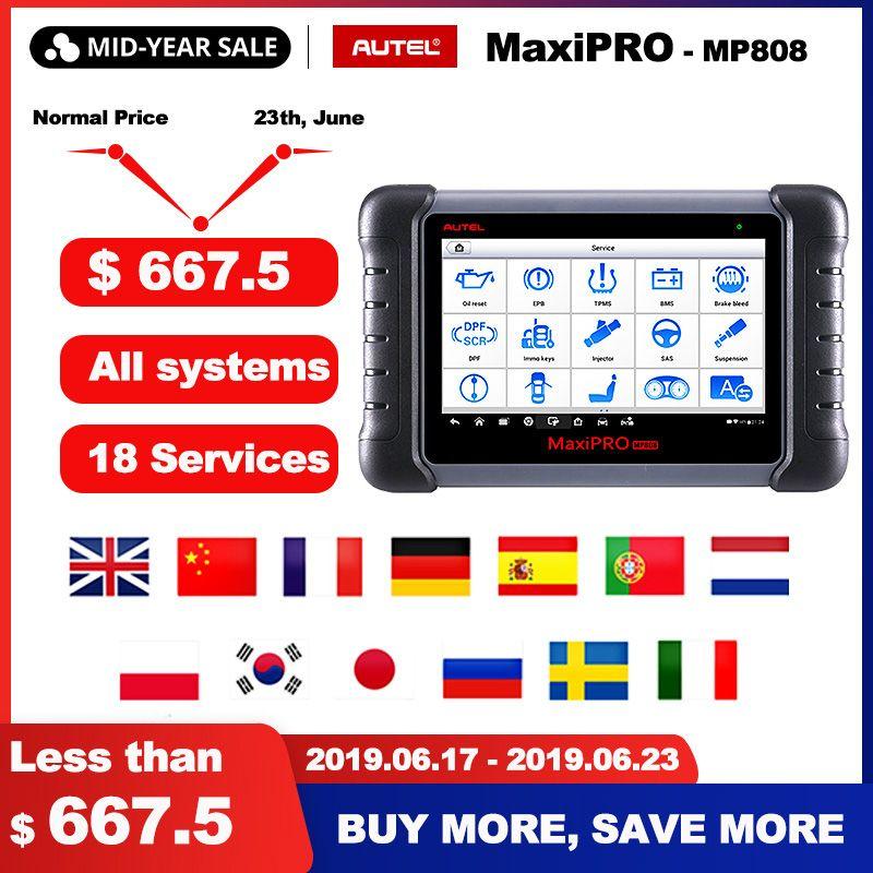 Autel MaxiPRO MP808 Diagnose Werkzeug OBD2 Professionelle OE-niveau OBDII Diagnose Werkzeug Schlüssel Codierung PK Autel DS808 DS708 MS906 pro