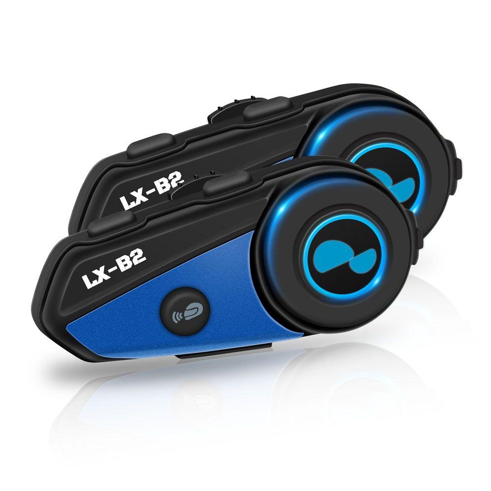 2PC Lexin-B2 BT Interphone Motorcycle Helmet Headset Intercom simultaneously pair different Bluetooth High-fidelity transmission