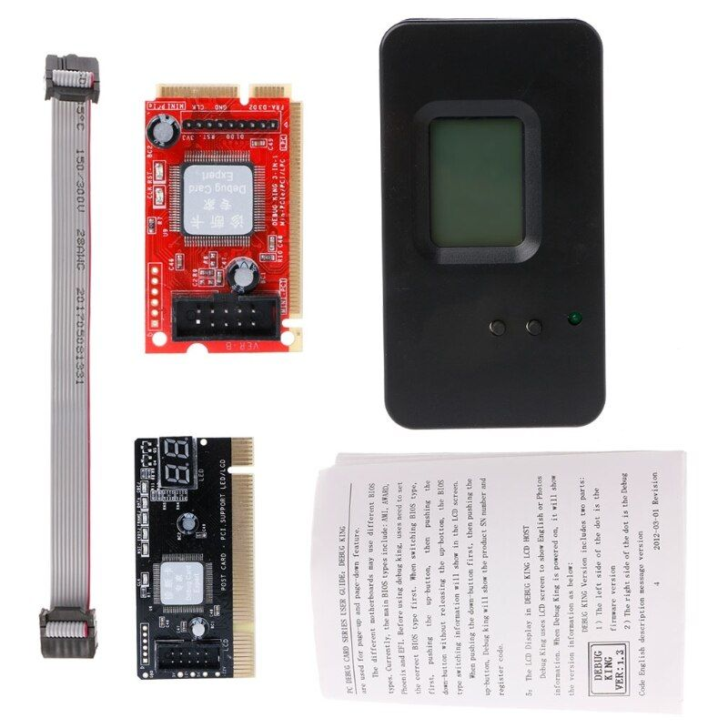1 Set 4-In-1 PCI/Mini PCI/Mini PCI-E/LPC Desktop Laptop LCD Analyzer Debug Test POST Card New