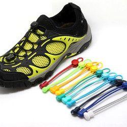 1 Pair Elastic Unsiex Women Men No Tie Locking Shoelaces Trainer Running Athletic Sneaks Shoe Laces