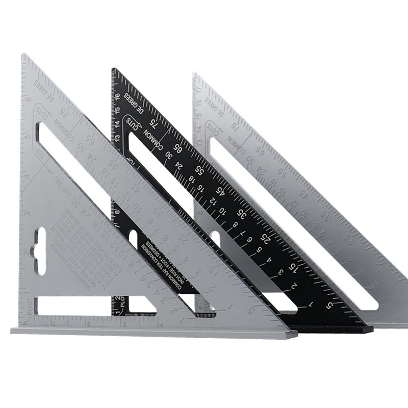 7'' Triangle Angle Protractor Aluminum Alloy Speed Square Measuring Ruler Miter For Framing Building Carpenter Measuring Tools
