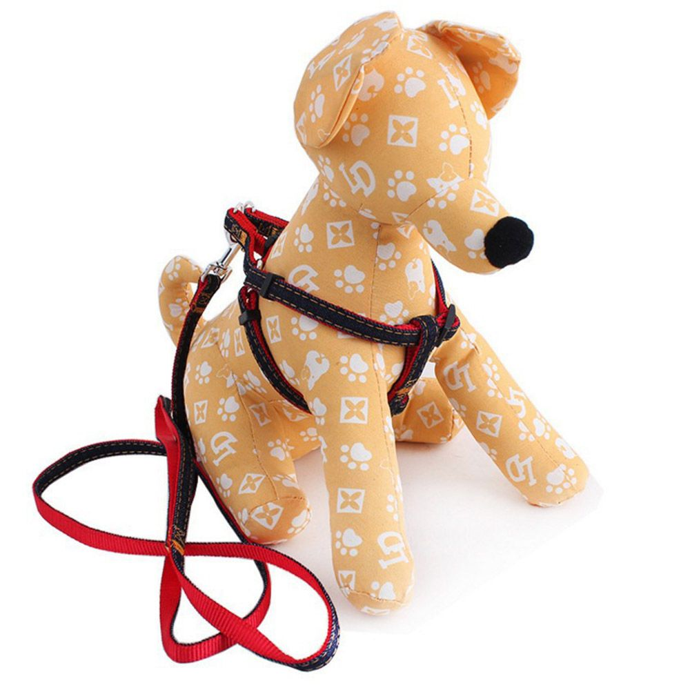 Einstellbare Jean Haustierkabelstrang Set Denim Hundehalsband Führt Leine für Kleine Mittlere Welpen Hunde Katzen Hund Glocke Gehen gürtel
