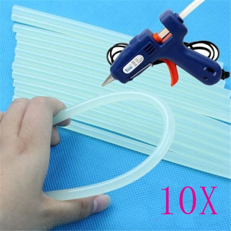 New 10 Pcs / set 7mm Hot Melt Glue Stick for Heat Pistol Glue 7x100mm High Viscosity Glue Glue Stick Repair Tool Kit DIY Hand To
