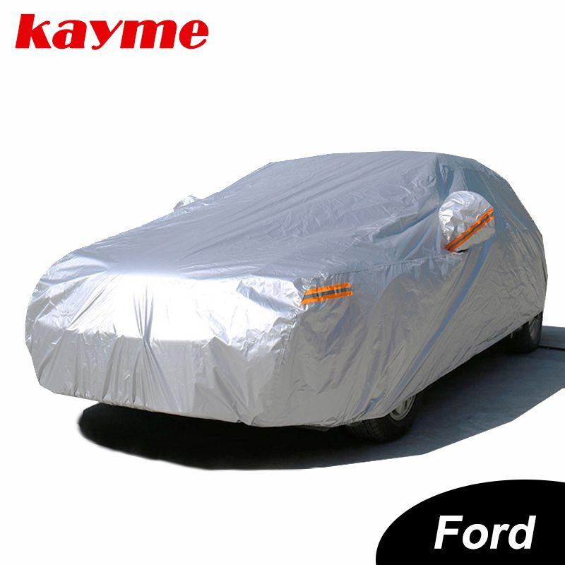 Kayme wasserdichte autoplanen außensonnenschutz abdeckung für auto für ford mondeo fokus 2 3 fiesta kuga ecosport explorer ranger