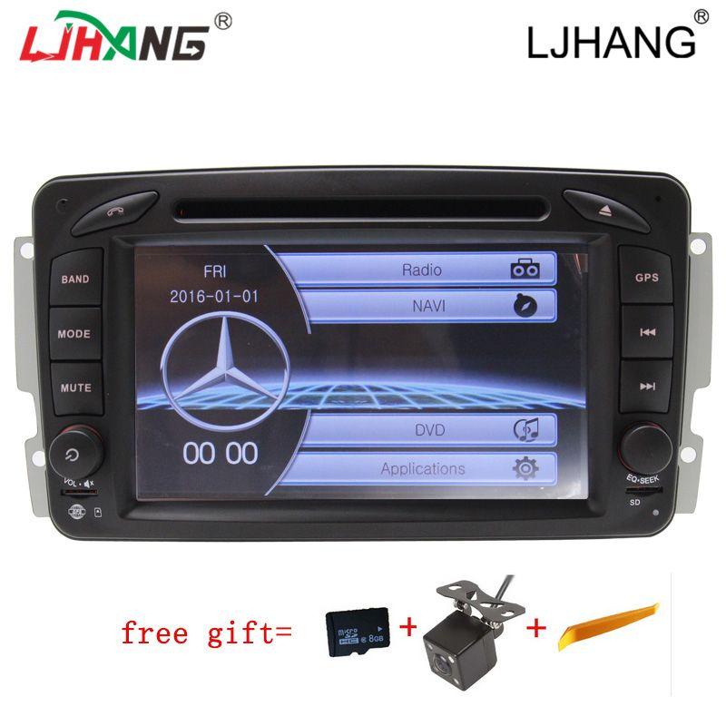 LIHANG 2 din 7 Inch Car DVD Player For Mercedes Benz W209 W203 W168 M ML W163 W463 Viano W639 Vito Vaneo multimedia radio GPS BT