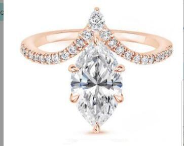 585 1.5 carat Moissan ite ring