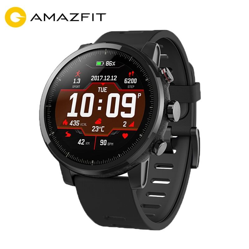 [Spanish Version] Xiaomi Huami Amazfit Stratos 2 Smart Watch Men GPS 5ATM Heart Rate Monitor Sports Smartwatch Firstbeat 2018