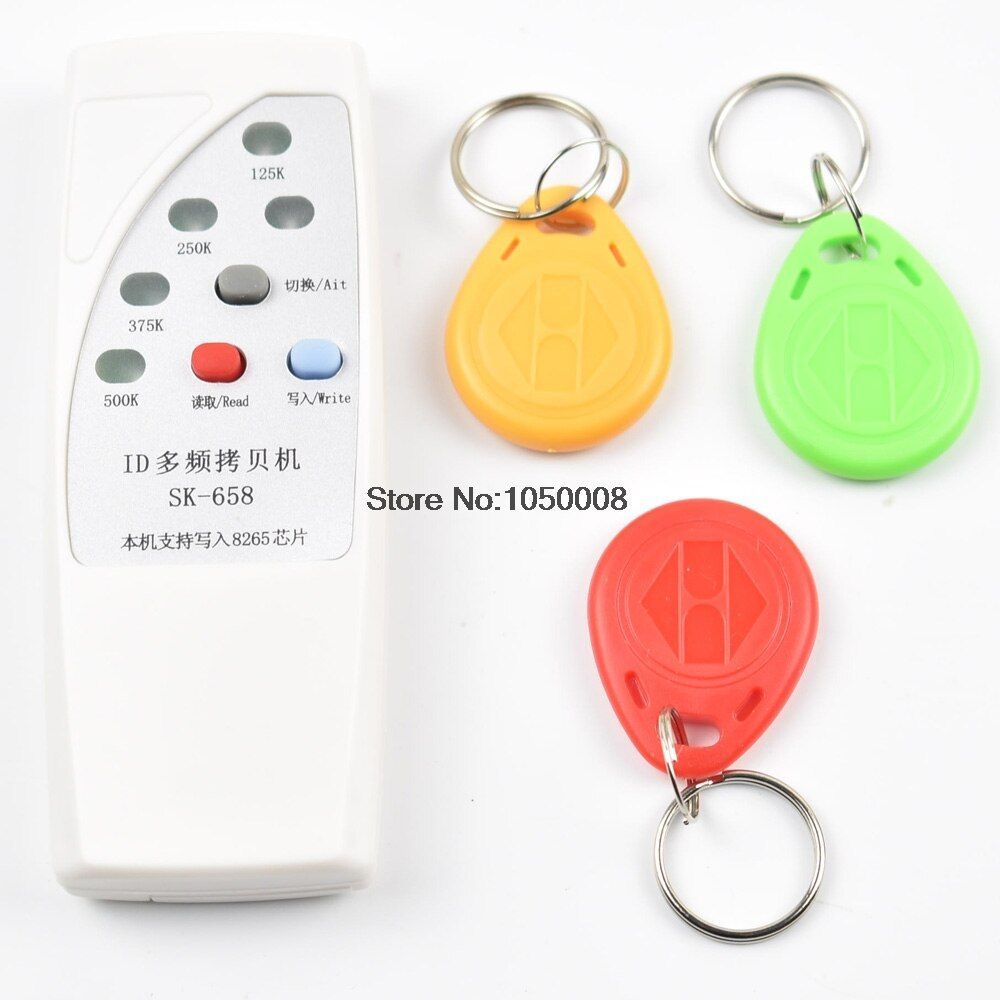 RFID Copier Duplicator Cloner ID EM EM4305 t5577 5200 reader writer + 3 stücke EM4305 T5577 beschreibbare schlüsselanhänger