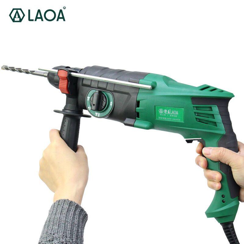 LAOA 220 V 900 Watt licht gewicht multifunktionale elektrische hammer 26mm durchmesser triple-zweck bohrmaschine elektrowerkzeuge
