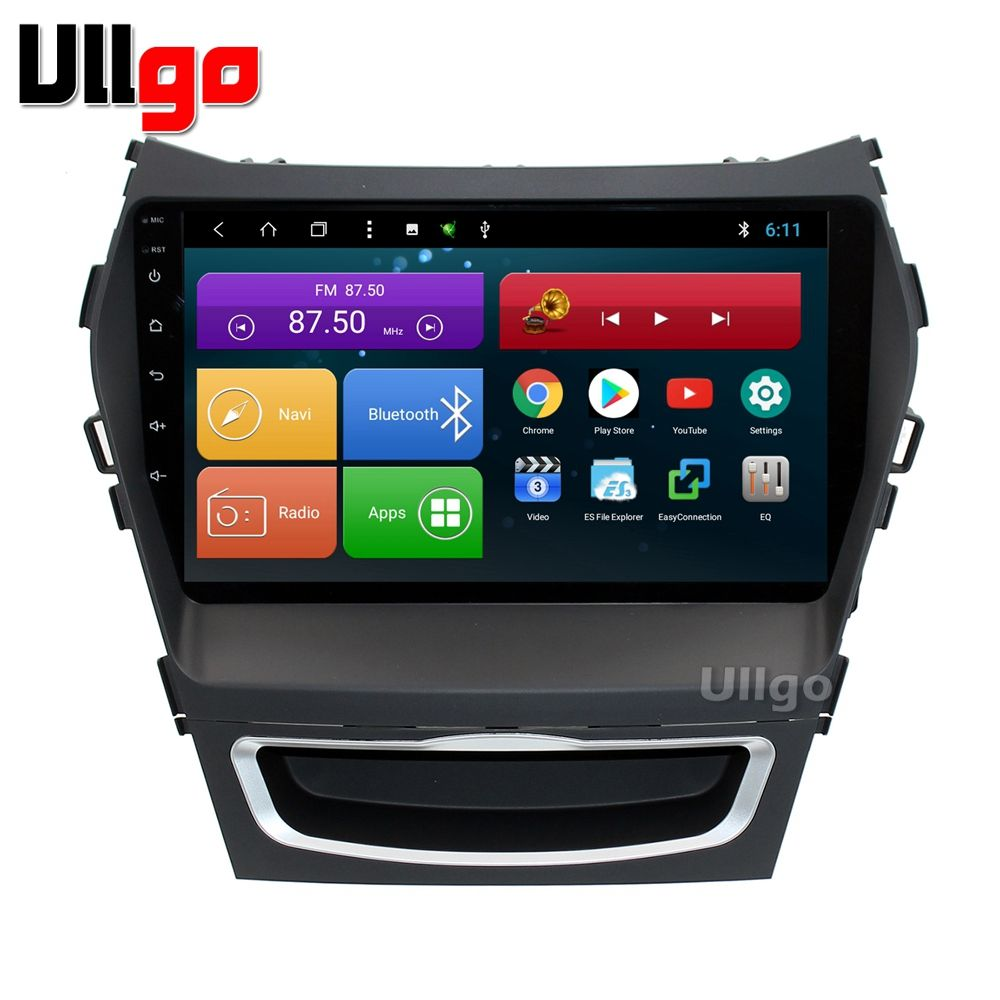9 inch Octa Core Android 7.1 Car Head Unit for Hyundai iX45 Santa Fe 2013 2014 Car Stereo GPS with BT Radio RDS Mirror-link Wifi